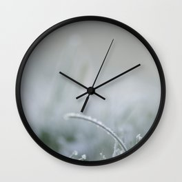 Frozen is the green grass Wall Clock