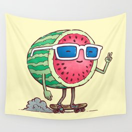 Watermelon Skater Wall Tapestry