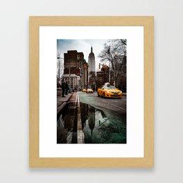 23rd Street Puddles Framed Art Print