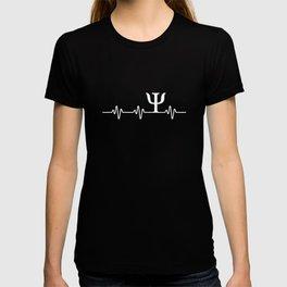 Psych Symbol Heartbeat T-Shirt Funny Psychologist Gift Tee T-shirt
