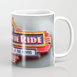 Original Art Photograph Great Movie Ride Neon Marquee Sign GMR Coffee Mug