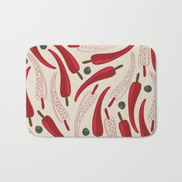 Hot chilli pattern design Bath Mat