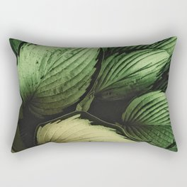 Vintage Japanese Hosta Rectangular Pillow