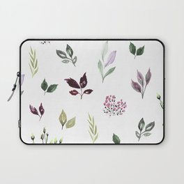 Tiny watercolor leaves Laptop Sleeve