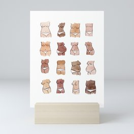 Hello, girls! // Boobs and butts Mini Art Print