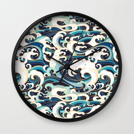 Japanese Sea Wall Clock