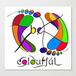 Trapsanella - be colourful Canvas Print