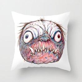 Rotten Head - Blue Nibbler Throw Pillow