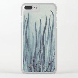 Green-Blue Grass Clear iPhone Case