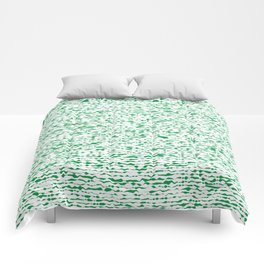 green abstract striped background Comforters