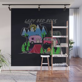 Lady Bed Rock Wall Mural