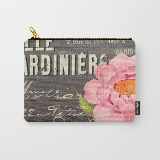 Vintage Flowers #5 Carry-All Pouch
