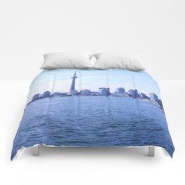 CN Tower Skyline Comforters