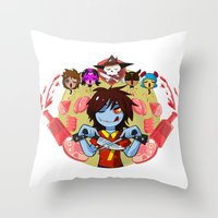 cooking Throw Pillows featuring Cooking Che by marvelousghost