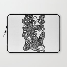 Faces in the Dark Laptop Sleeve