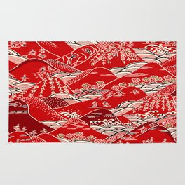 Red Mountains Rug