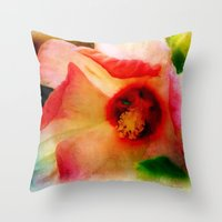 hibiscus Throw Pillows featuring Hibiscus by Christine Belanger