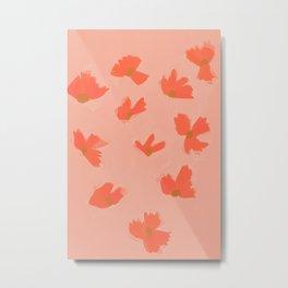 Floral Wind Metal Print