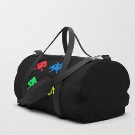 space aliens invaders stylish gamer art Duffle Bag