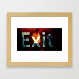 Exit II Framed Art Print