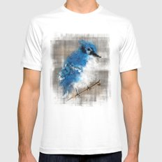 A Blue Jay Today MEDIUM Mens Fitted Tee White