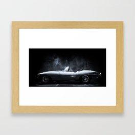 Jaguar E-Type XKE Profile Framed Art Print