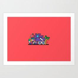 Beach or Bum it Art Print
