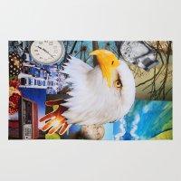 eagle Area & Throw Rugs featuring Eagle by John Turck