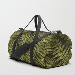 Among the ferns in the forest (military green) Duffle Bag