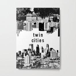 Twin Cities Minneapolis and Saint Paul Minnesota Metal Print
