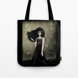The Girl with Dragonfly Tattoos Tote Bag