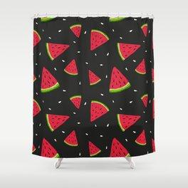 Watermelons in tha dark Shower Curtain