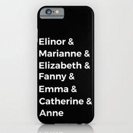 Jane Austen's Heroines I iPhone Case