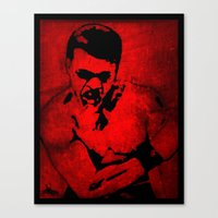 ali gulec Canvas Prints featuring Ali by 6-4-3