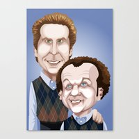 will ferrell Canvas Prints featuring Step Brothers by Leo Maia