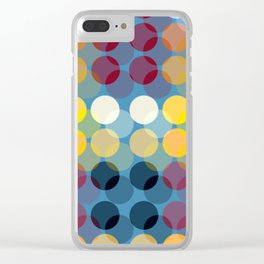 Colorful Polka Dot Clear iPhone Case