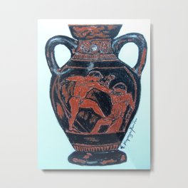 Greek Amphora Metal Print