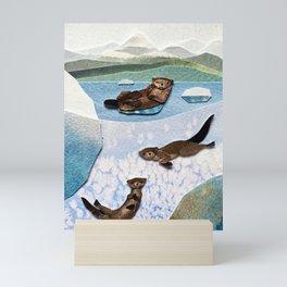 Silly Sea Otters Mini Art Print