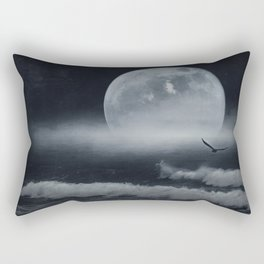 moon-lit ocean Rectangular Pillow