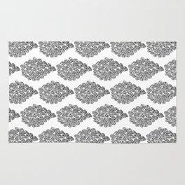 Handrawn intricate tear drop doodle/zentangle pattern  Rug