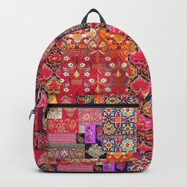 -A35- Traditional Colored Moroccan Artwork. Backpack