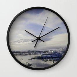 Glacial Lagoon 04 Wall Clock