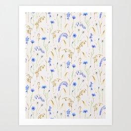 Wild Grain Meadow - Neutral Art Print