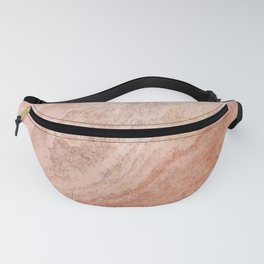 Polished Rose Gold Marble Fanny Pack
