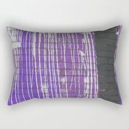 Modern abstract black violet white paint splatters pattern Rectangular Pillow