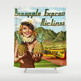 Pineapple Express Airlines Shower Curtain