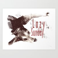 Lazy Sunday Art Print