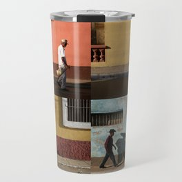 Cuba Men Walking  - Vertical Travel Mug