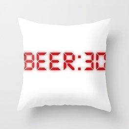 Half Past Beer Throw Pillow