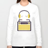 radio Long Sleeve T-shirts featuring Radio Mode Love by Picomodi